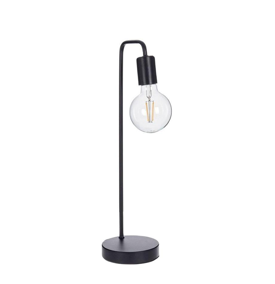 Lámpara de mesa Emotion, Hierro, Negro, Ø 13 x Al 49 cm