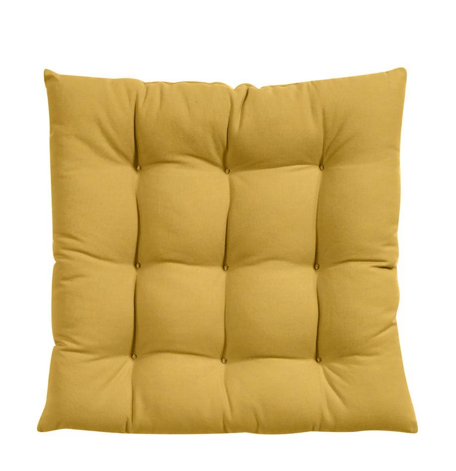 Sitzkissen Ava in Gelb, Bezug: 100% Baumwolle, Gelb, 40 x 40 cm