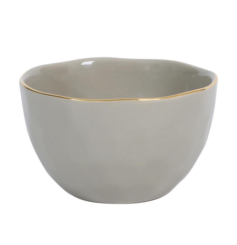 Miseczka Good Morning, Porcelana, Szary, odcienie złotego, Ø 14 cm