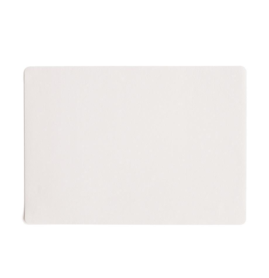 Tovaglietta americana in similpelle Pik 2 pz, Materiale sintetico (PVC), Bianco, Larg. 33 x Lung. 46 cm