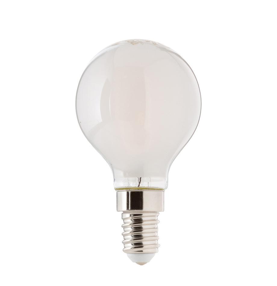 Bombilla E14, 2.5W, blanco cálido, 1ud., Ampolla: plástico, Casquillo: aluminio, Blanco, Ø 5 x Al 8 cm