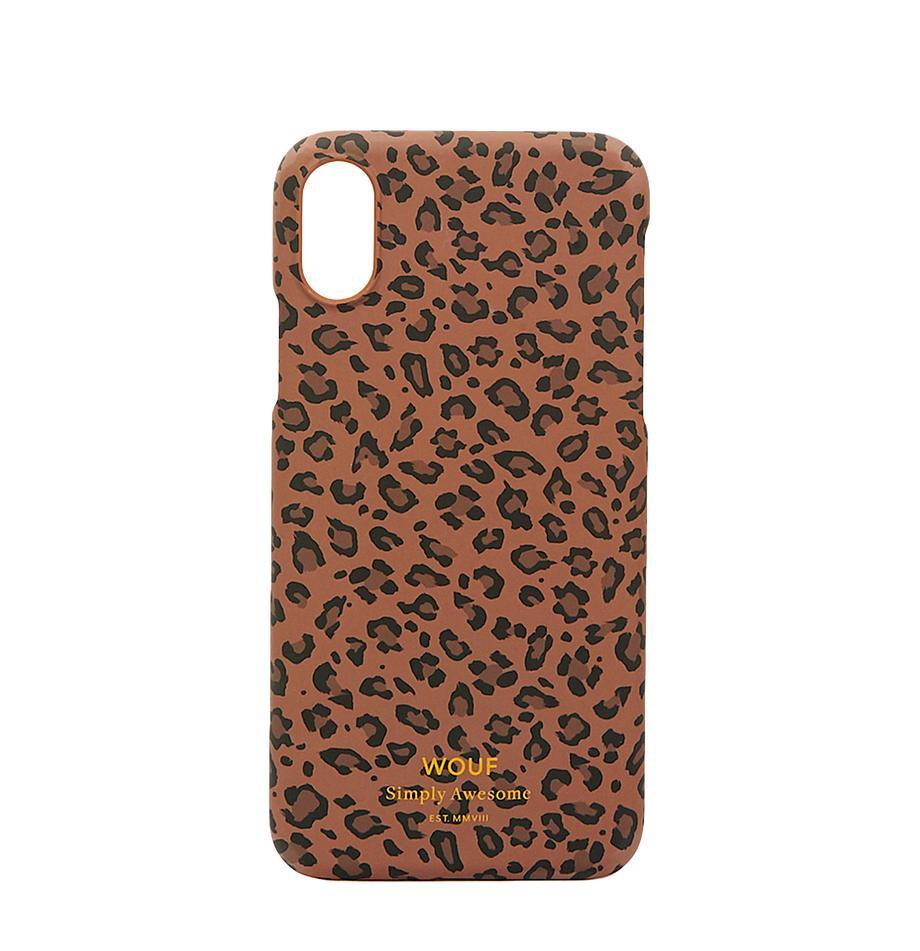 Telefoonhoesje Savanna voor iPhone X, Siliconen, Bruin, zwart, 7 x 15 cm