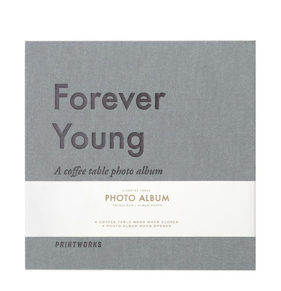 Album na zdjęcia Forever Young, Szary, niebieski, biały, czarny, D 25  x S 25 cm