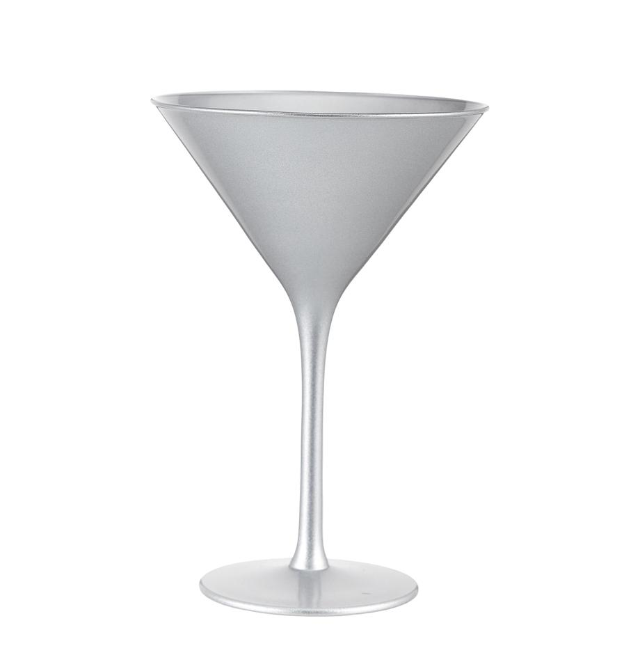Bicchiere cocktail in cristallo Elements 6 pz, Cristallo rivestito, Argentato, Ø 12 x Alt. 17 cm