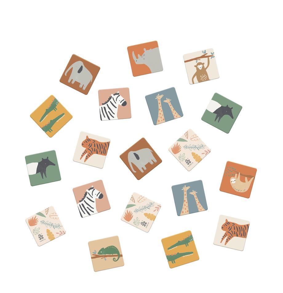 Memory-Spiel Wildlife, 30-tlg., Fester Karton, Mehrfarbig, 6 x 6 cm