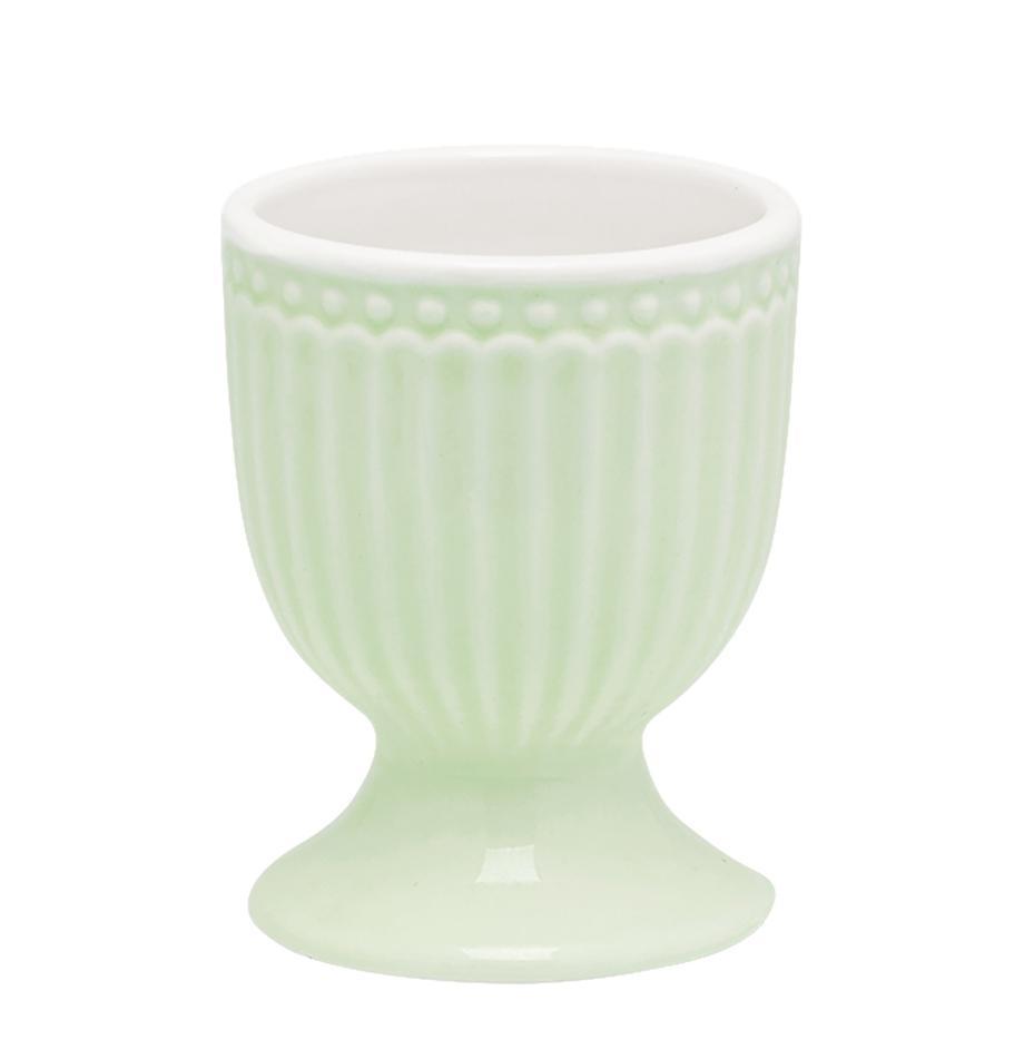 Kieliszek do jajek Alice, 2 szt., Porcelana, Miętowozielony, Ø 5 x W 7 cm