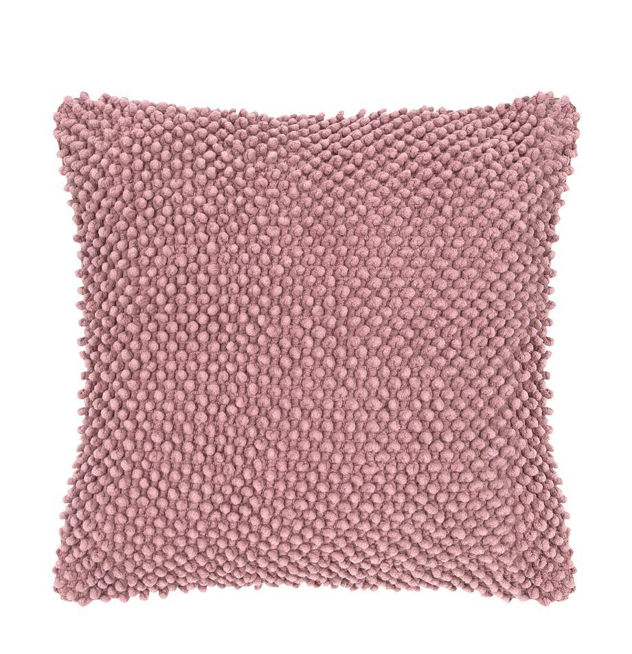Kissenhülle Indi mit strukturierter Oberfläche in Altrosa, 100% Baumwolle, Altrosa, 45 x 45 cm