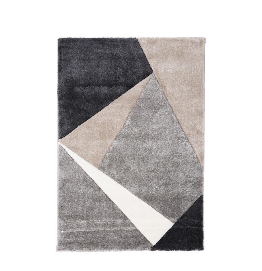 Vloerkleed My Broadway met geometrisch patroon in beige-grijs, Bovenzijde: 100% polypropyleen, Onderzijde: jute, Taupe, beige, antraciet, grijs, B 120 x L 170 cm (maat S)