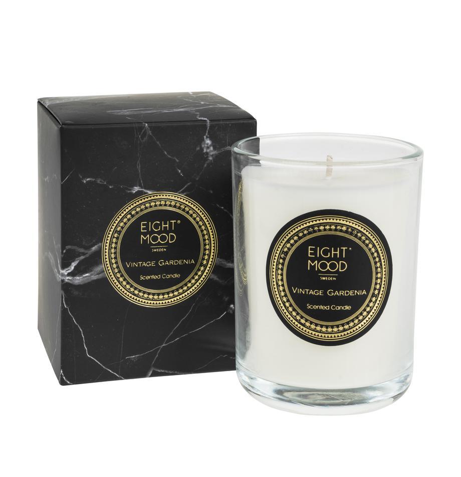 Duftkerze Black Marble (Gardenie), Behälter: Glas, Behälter: Transparent Wachs: Weiß, Ø 9 x H 12 cm