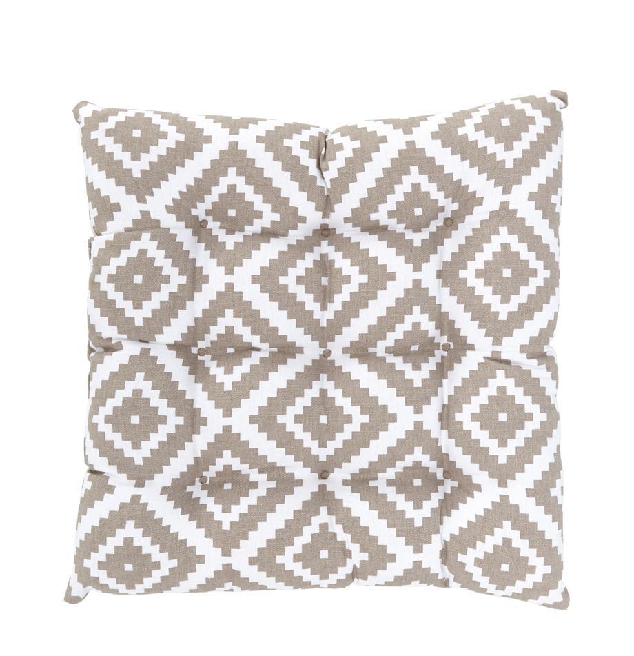 Cojín de asiento Miami, Funda: 100%algodón, Beige, An 40 x L 40 cm