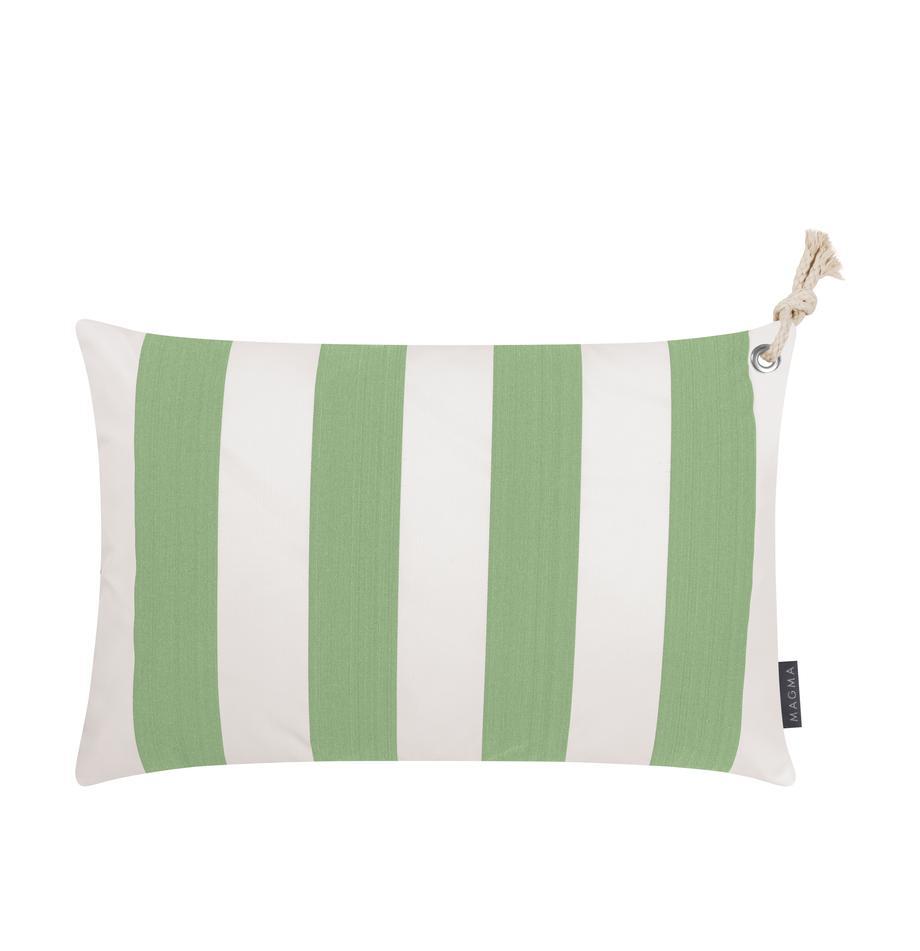 Federa arredo da interno-esterno Santorin, 100% polipropilene, Teflon® rivestito, Verde, bianco, Larg. 40 x Lung. 60 cm