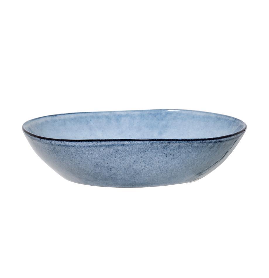 Ciotola blu fatta a mano Sandrine, Terracotta, Tonalità blu, Ø 22 x Alt. 5 cm