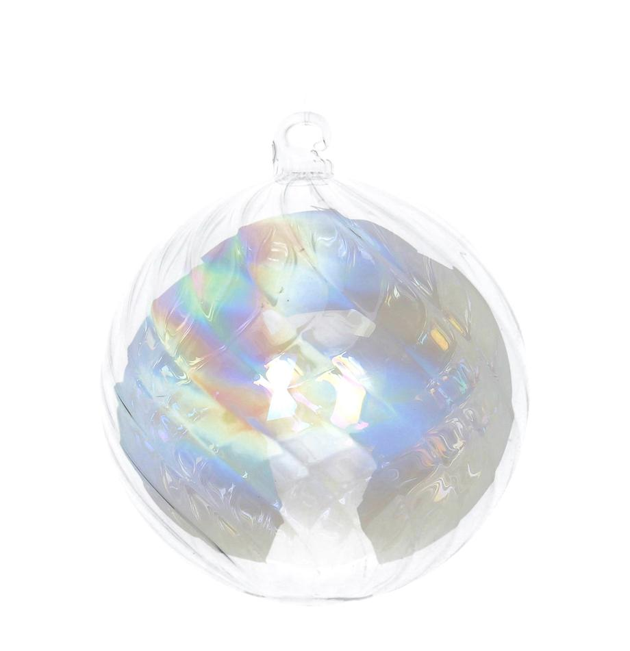 Bolas de Navidad Iridescent, 2uds., Transparente, iridiscente, Ø 8 cm