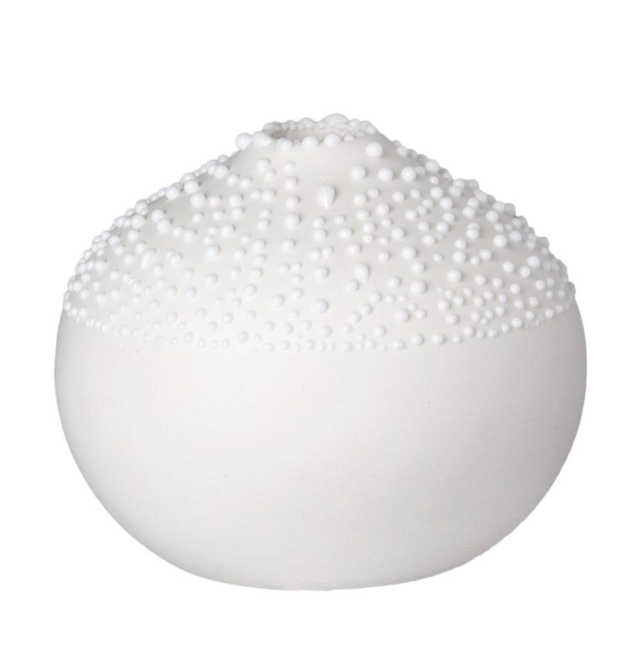 XS Porzellan-Vase Pearl, Porzellan, Weiss, Ø 5 x H 6 cm