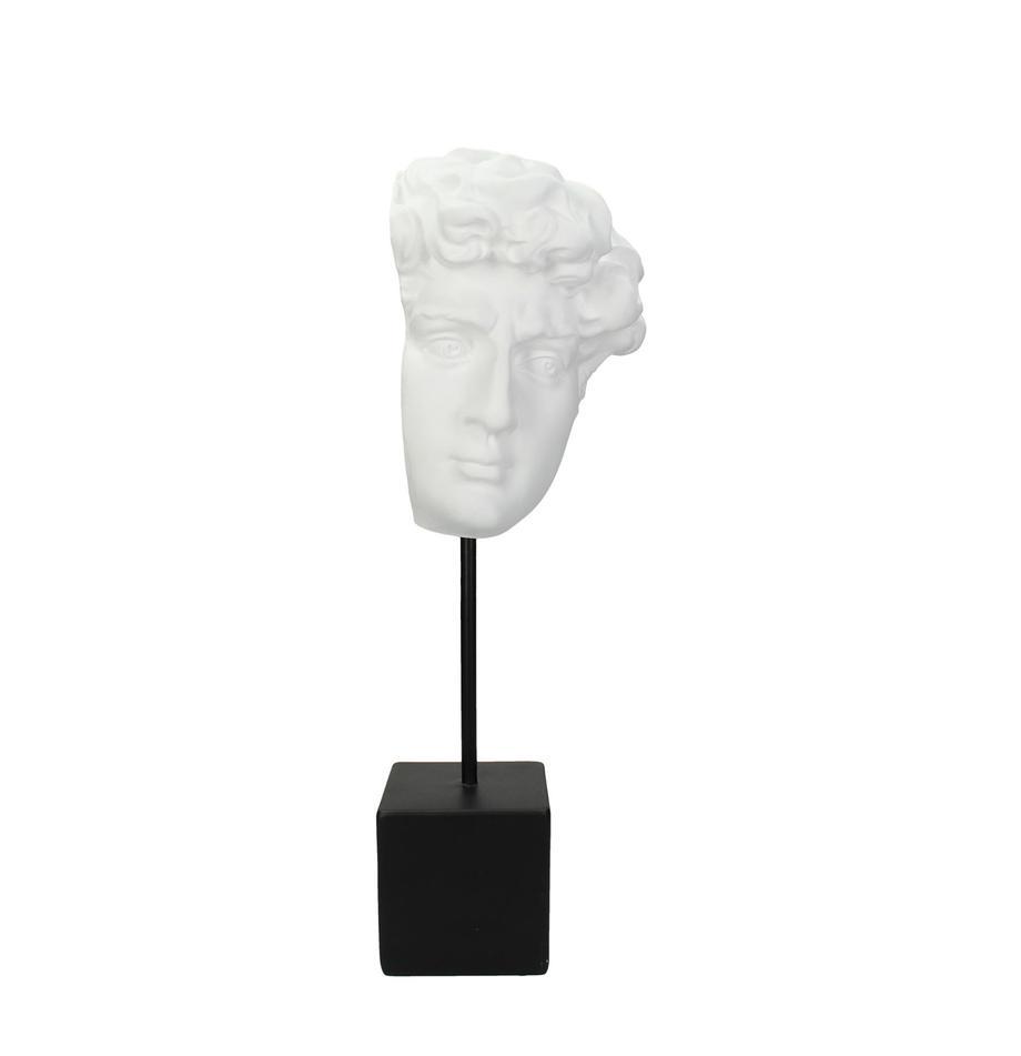 Deko-Objekt David, Polyresin, Weiß, Schwarz, 13 x 42 cm