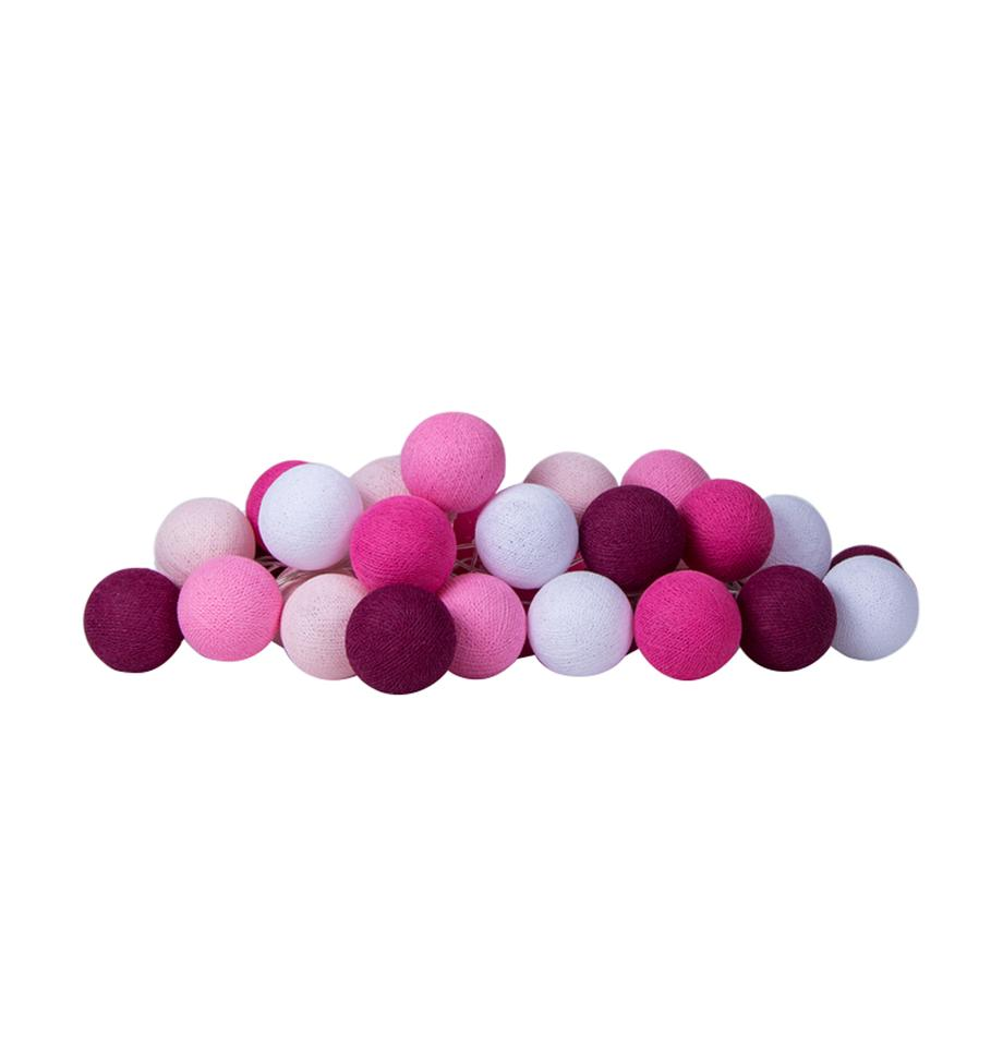 Girlanda świetlna LED Colorain, Odcienie różowego, biały, D 264 cm