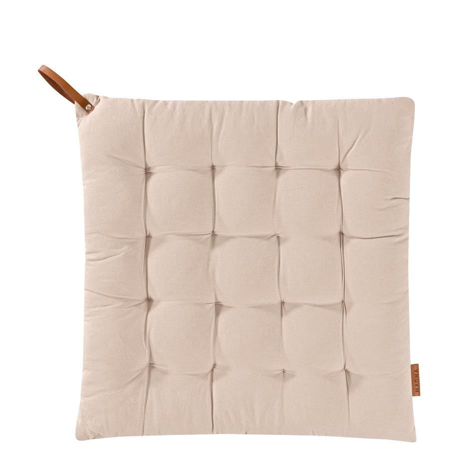 Sitzkissen Billie, 100% Baumwolle, Beige, 40 x 40 cm