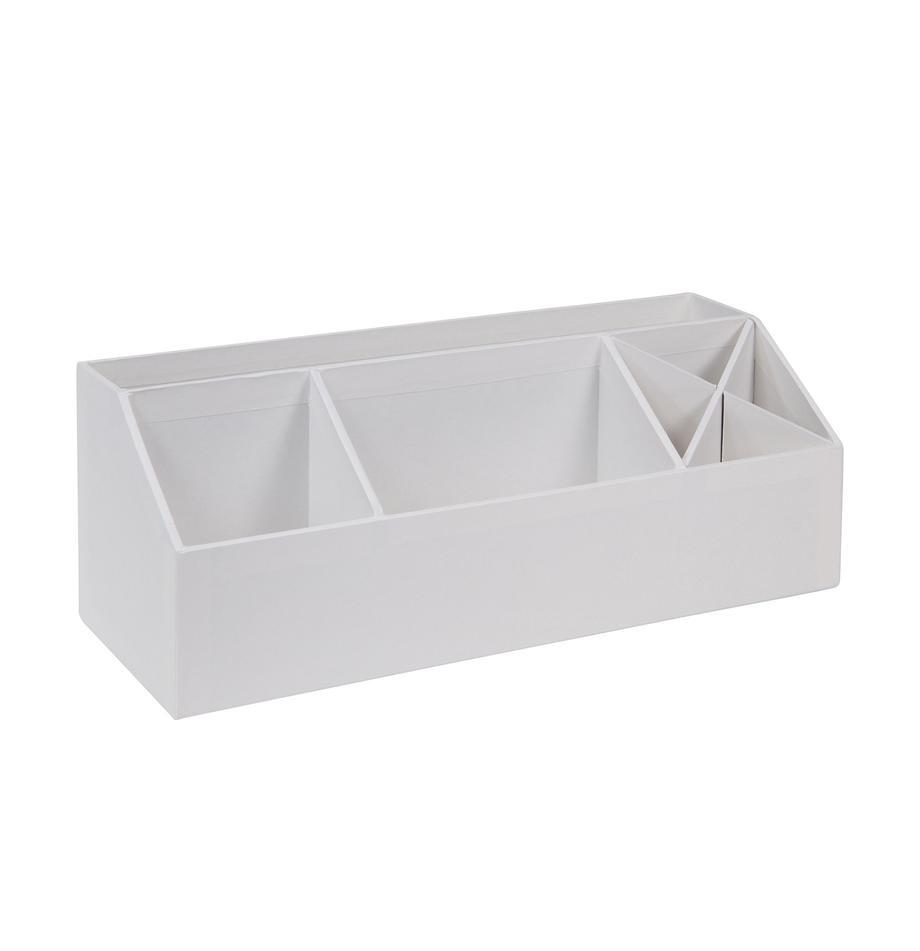 Büro-Organizer Elisa, Fester, laminierter Karton, Weiß, 33 x 13 cm