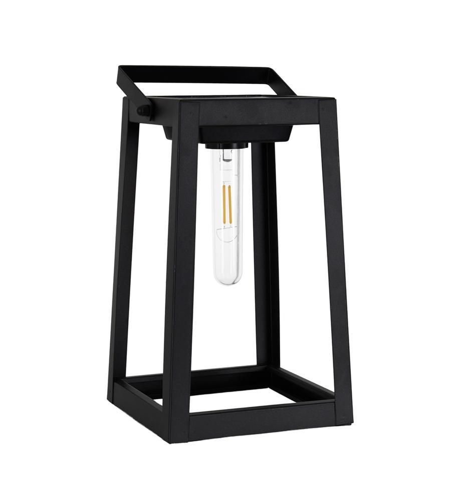 Solar Außentischlampe Tippy, Lampenschirm: Kunststoff, Schwarz, 15 x 31 cm