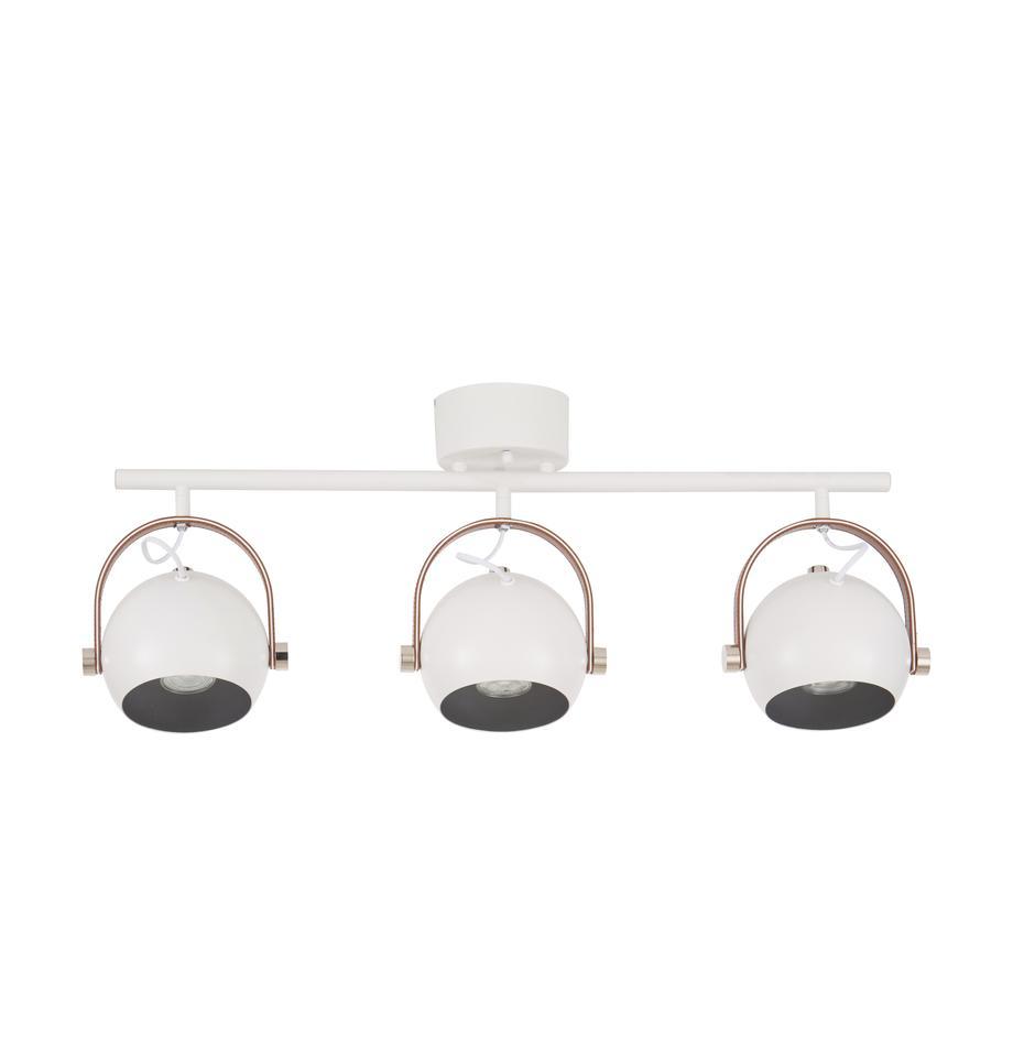 Plafondlamp Bow in industrieel design, Wit, 76 x 32 cm
