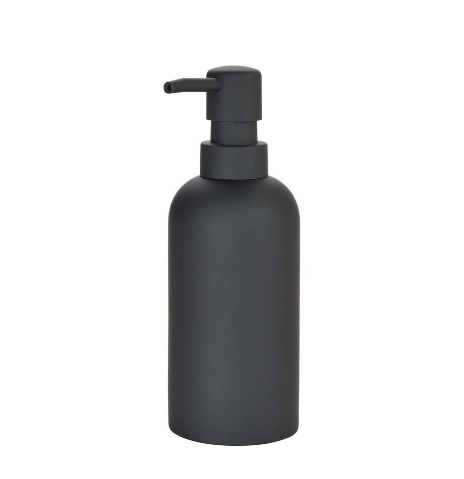 Seifenspender Archway, Behälter: Polyresin, Pumpkopf: Kunststoff, Schwarz, Ø 7 x H 19 cm