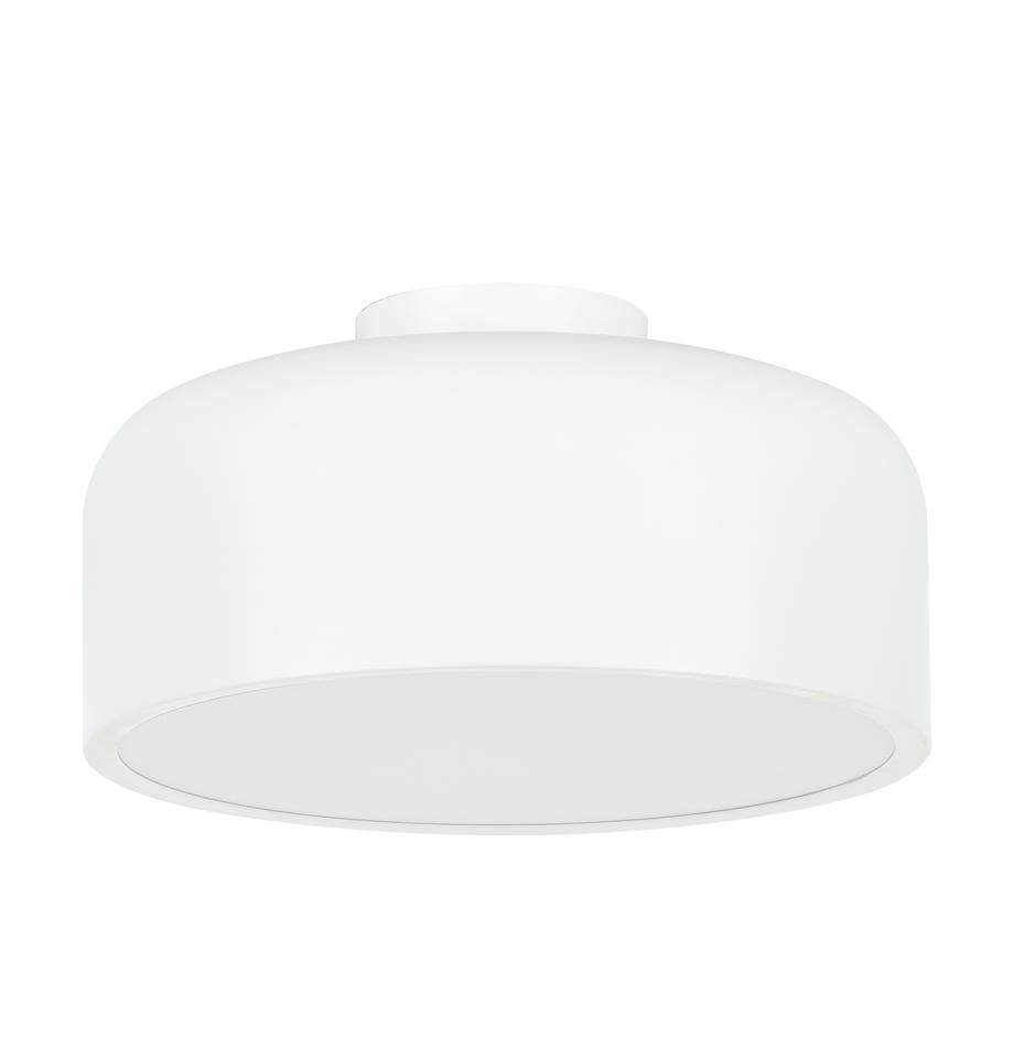 Scandi plafondlamp Ole, Diffuser: acryl, Mat wit, Ø 35 x H 18 cm