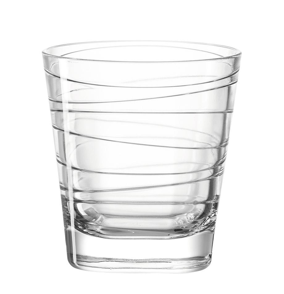 Bicchiere acqua Vario 6 pz, Vetro di soda-calce, Trasparente, Ø 8 x Alt. 9 cm