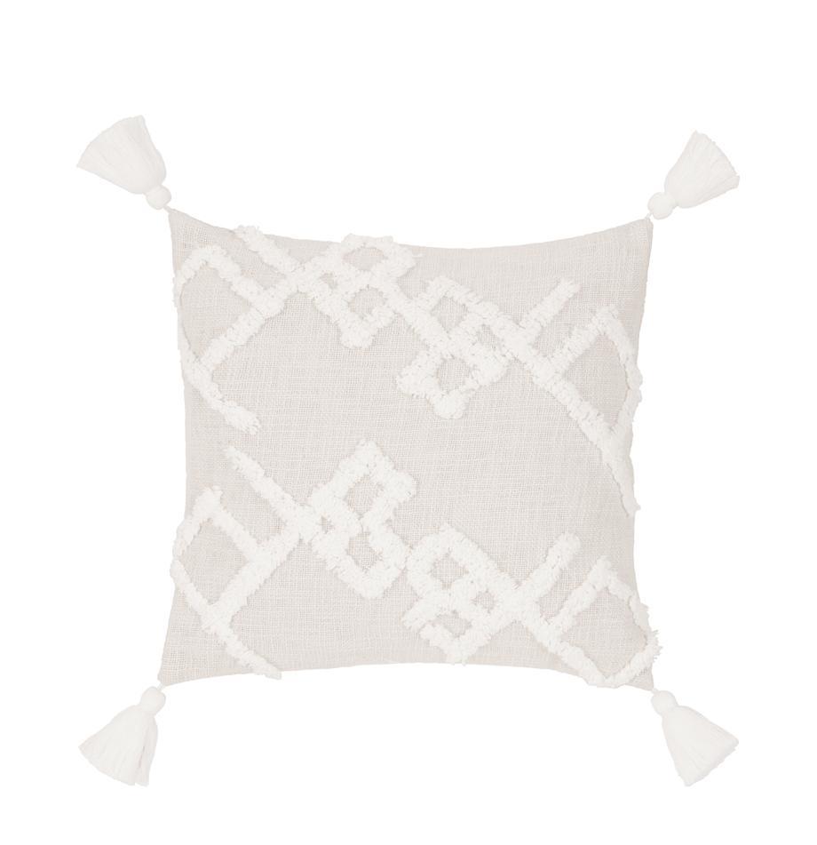 Poszewka na poduszkę z tuftowaną dekoracją Tikki, Bawełna, Beżowy, S 40 x D 40 cm