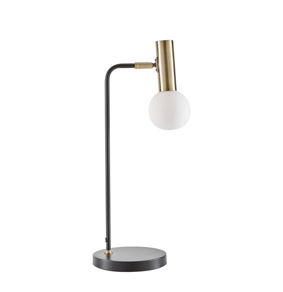 Lampada da tavolo a LED Wilson, Paralume: vetro, Base della lampada: metallo, Nero, Ø 22 x Alt. 54 cm