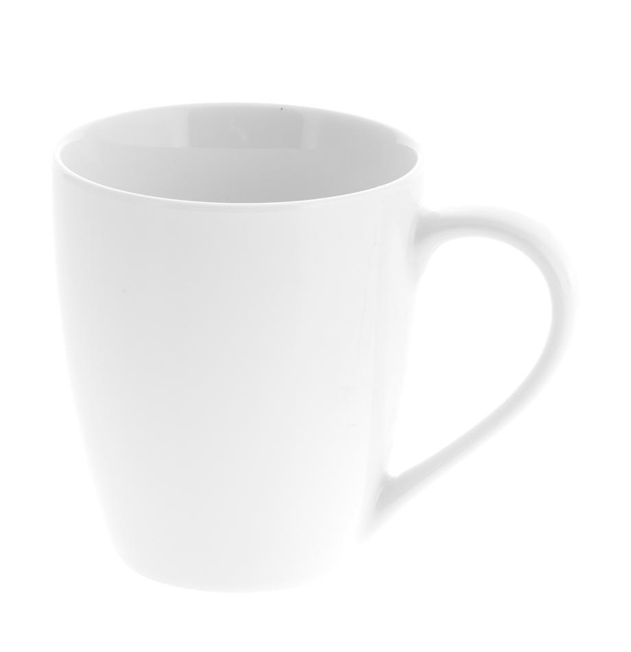 Kubek z porcelany Delight, 2 szt., Porcelana, Biały, Ø 9 x W 10 cm