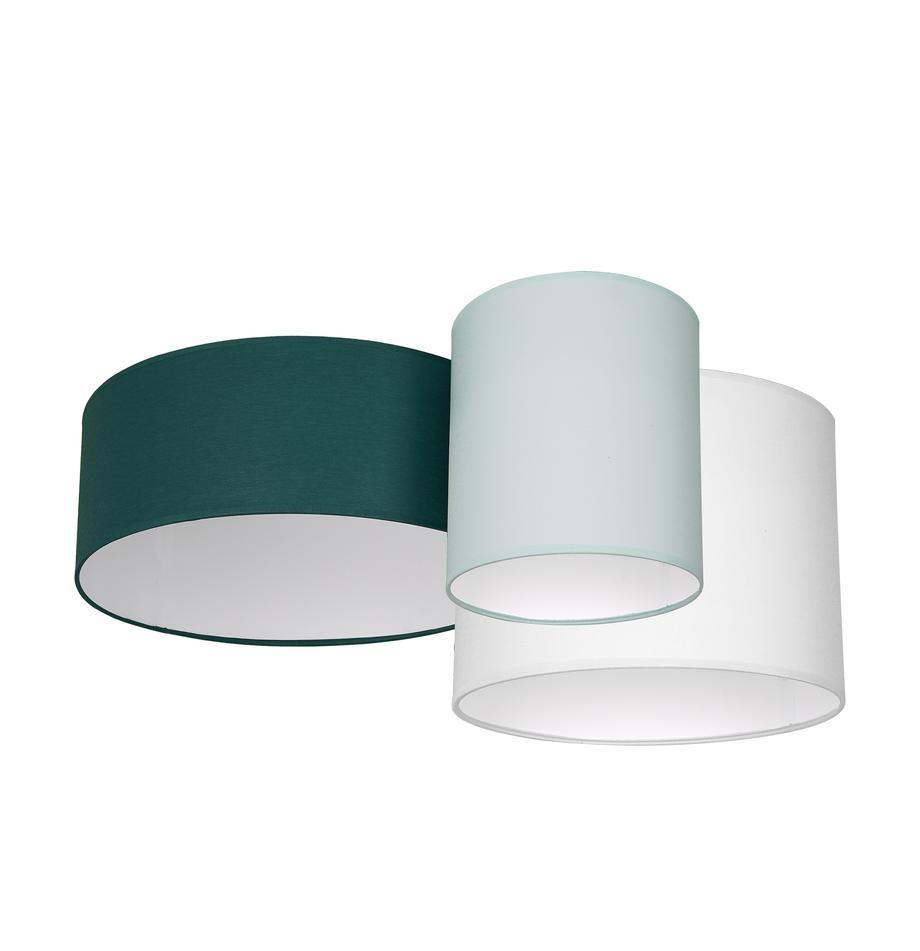 Plafondlamp Stan in groen, Lampenkap: katoenmix, Groen, pistaschegroen, wit, 70 x 27 cm