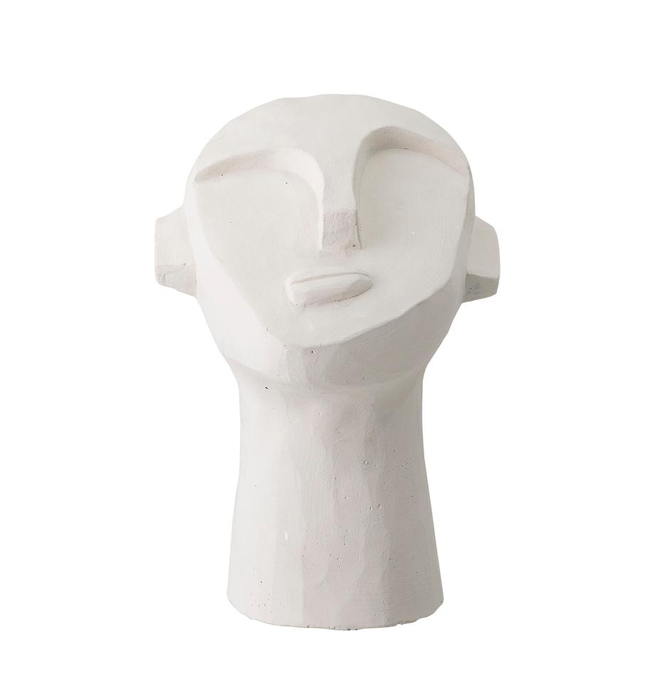 Oggetto decorativo Man, Cemento dipinto, Bianco, Larg. 18 x Alt. 22 cm