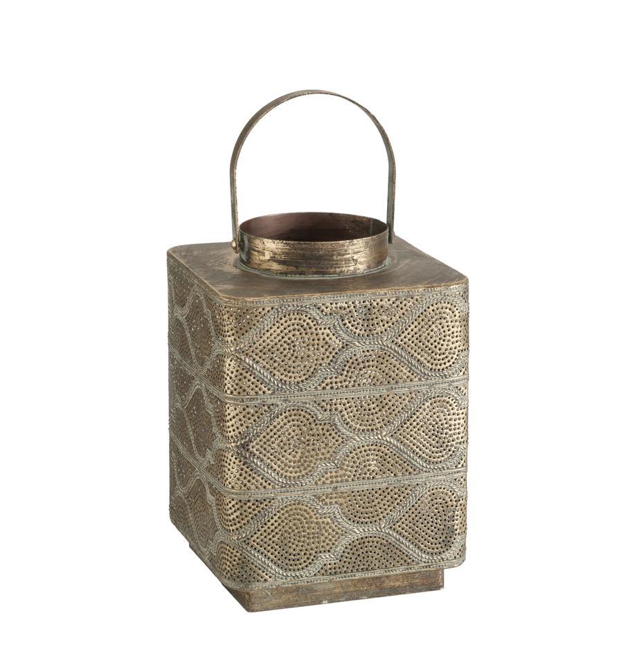Lantaarn Balboa, Gecoat metaal, Goudkleurig met antieke afwerking, 21 x 26 cm
