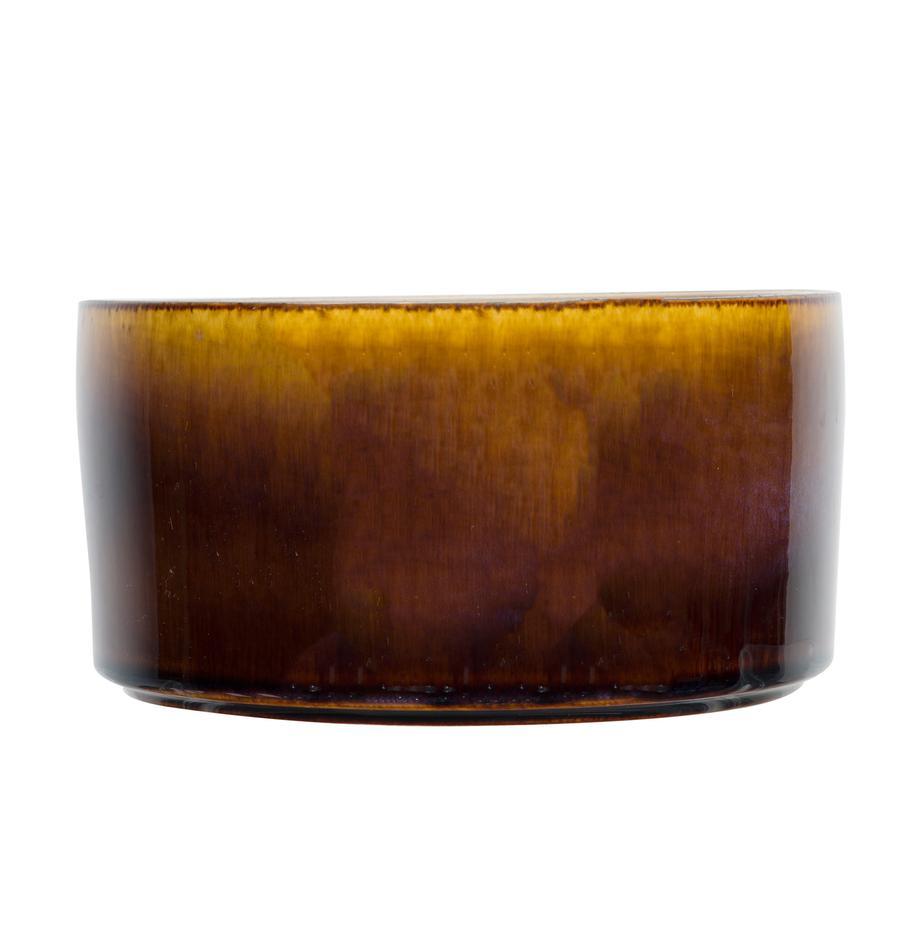Kommen Quintana, 2 stuks, Porselein, Amberkleurig, bruin, Ø 14 cm