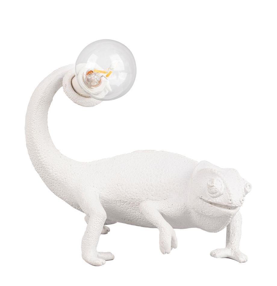 Lampada da tavolo Chameleon, Lampada: poliresina, Bianco, Larg. 17 x Alt. 14 cm