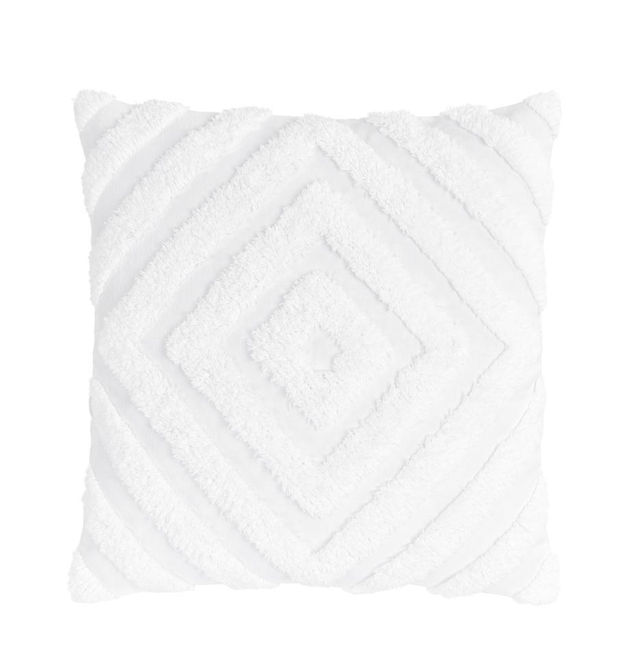 Poszewka na poduszkę Kara, 100% bawełna, Biały, S 50 x D 50 cm
