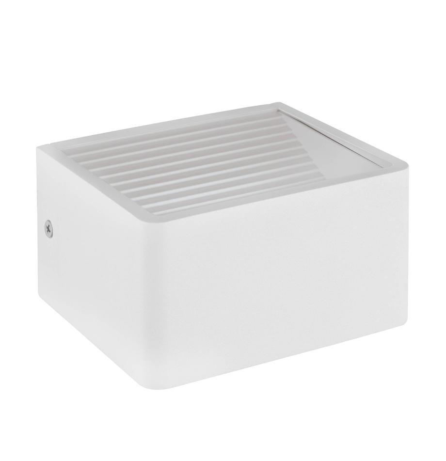 Applique a LED da esterno Doninni, Bianco, Larg. 14 x Alt. 8 cm
