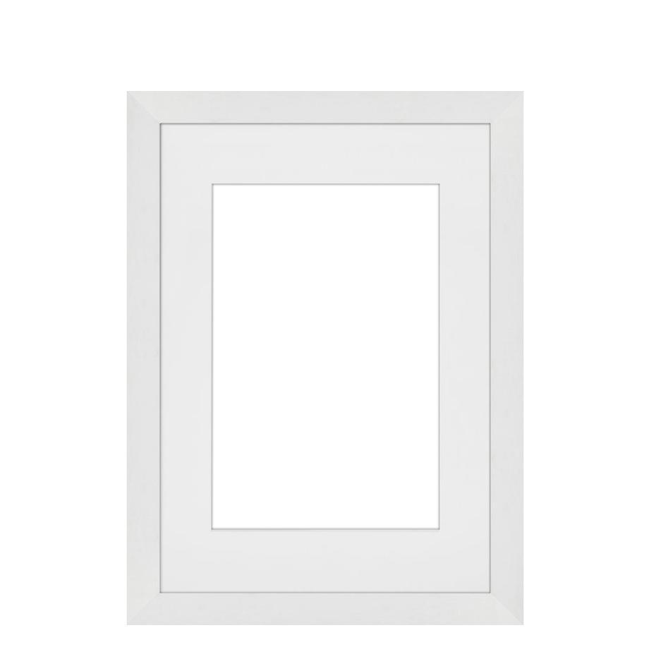 Bilderrahmen Apollon, Rahmen: Monterey-Kiefernholz, lac, Front: Glas, Rückseite: Mitteldichte Holzfaserpla, Weiß, 21 x 30 cm