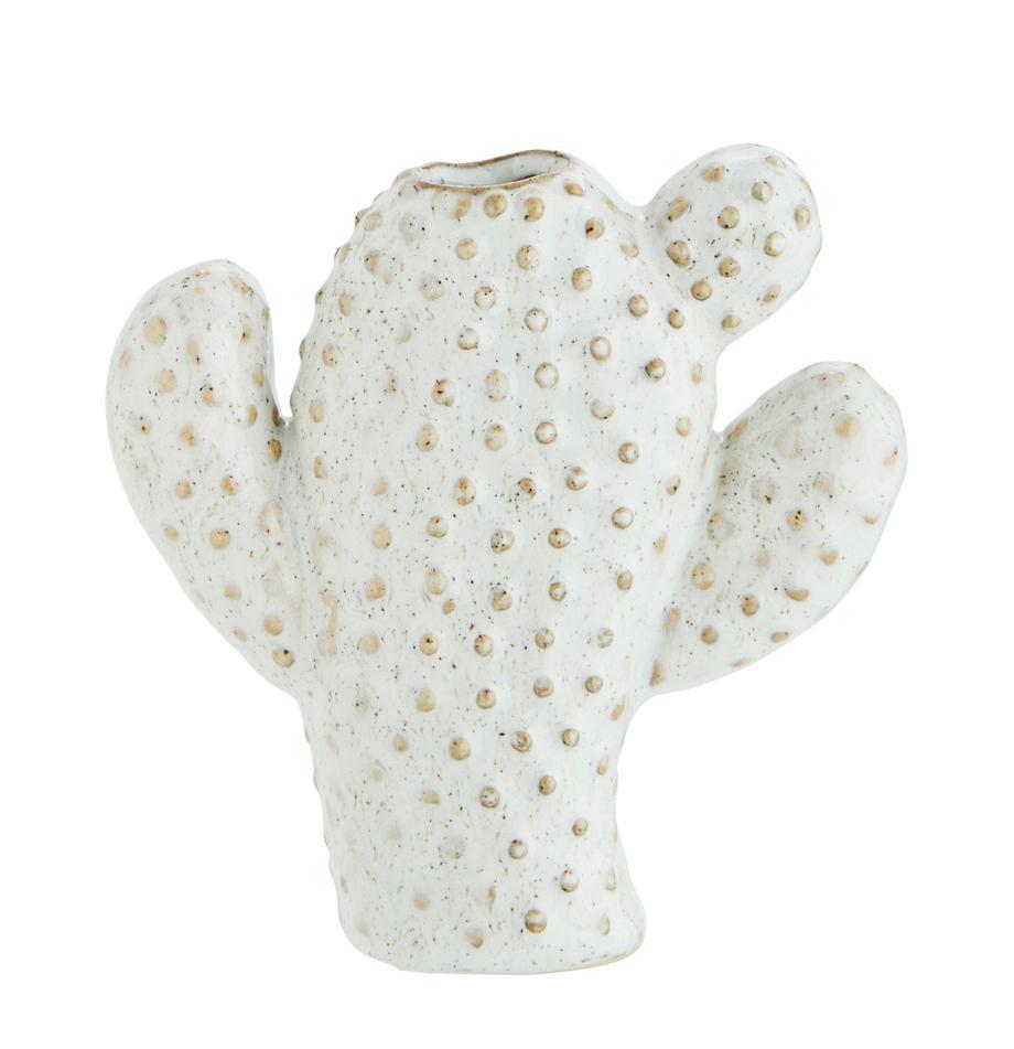Mały wazon z kamionki Caty, Kamionka, Biały, beżowy, S 12 x W 13 cm
