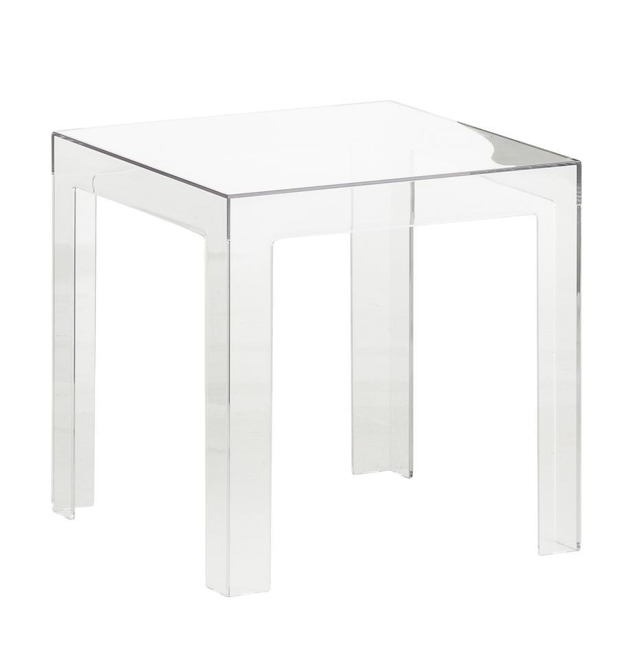 Transparenter Beistelltisch Jolly, Polykarbonat, Transparent, 40 x 40 cm