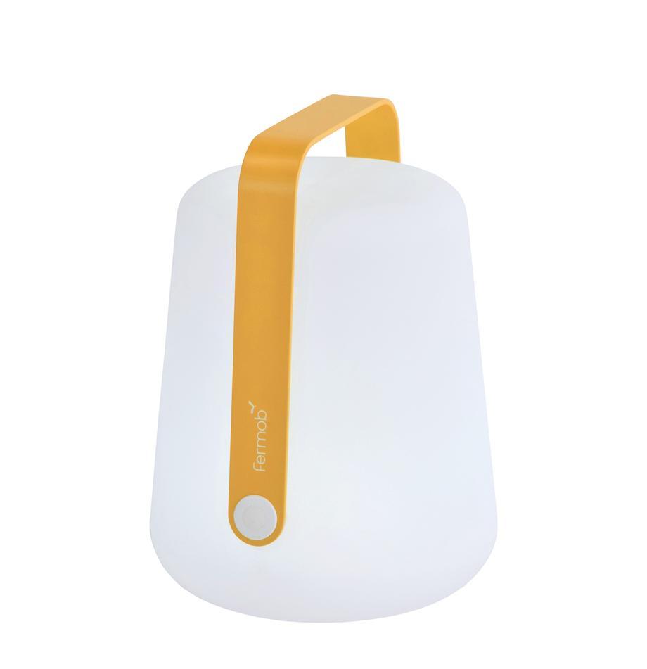 Mobiele outdoor LED-lampen Balad, 3 stuks, Lampenkap: polyethyleen, speciaal be, Geel, Ø 19 x H 25 cm