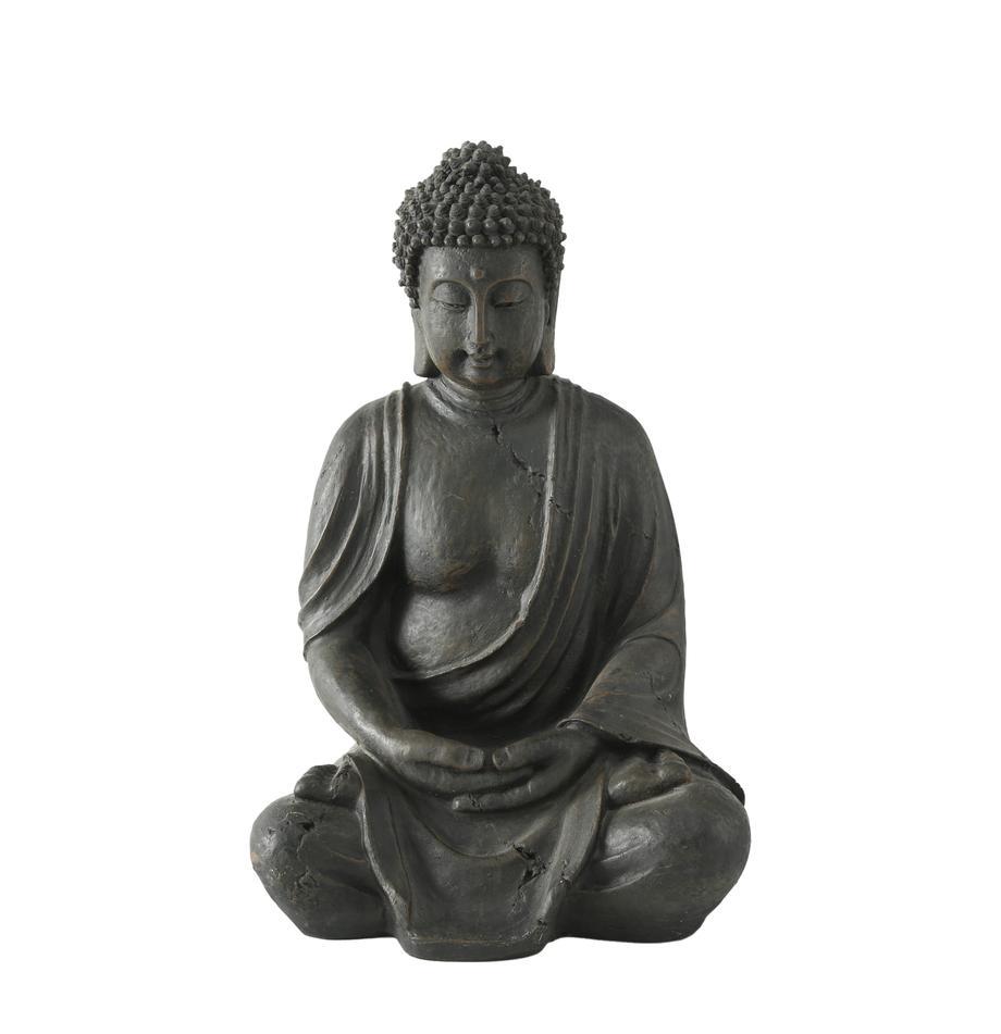Decoratief object Buddha, Kunststof, Zwartbruin, 26 x 40 cm