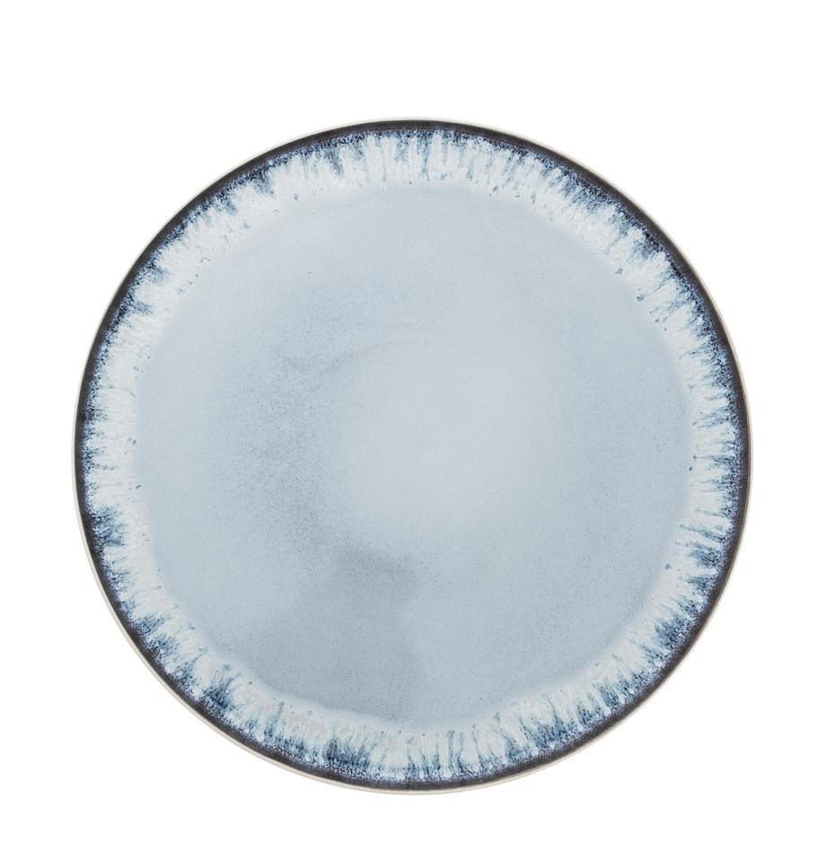 Platos llano Inspiration, 2uds., Gres, Azul, beige claro, Ø 27 cm