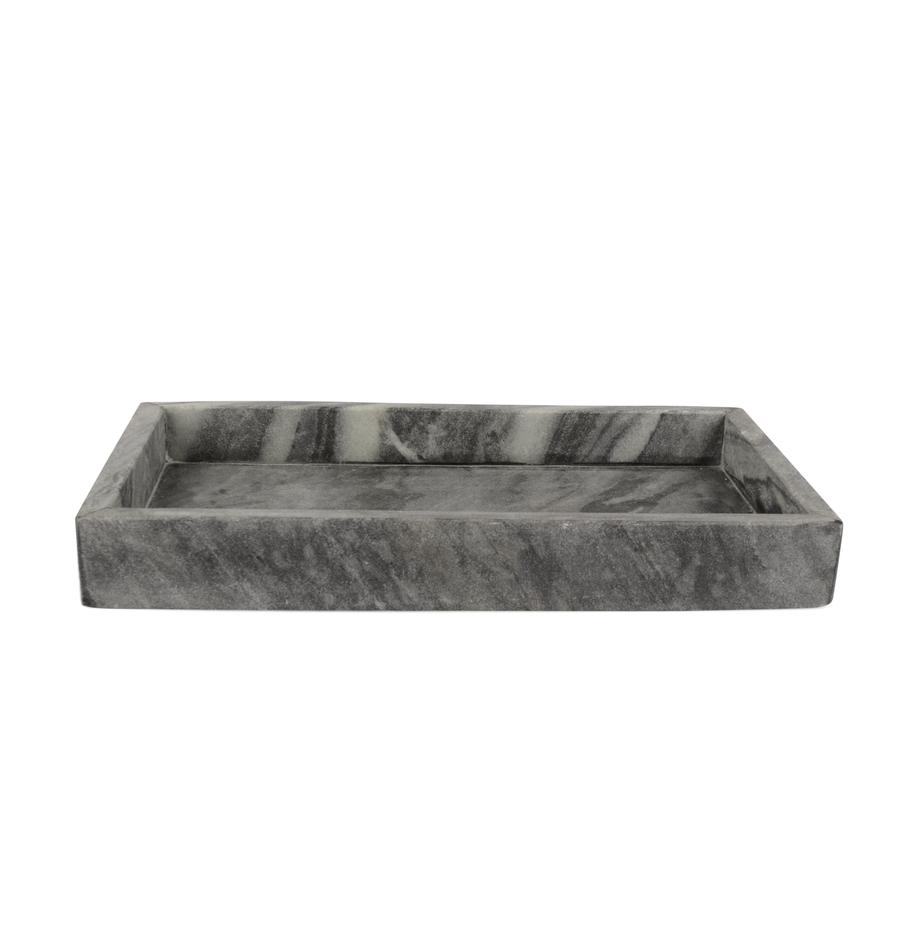 Deko-Marmor-Tablett Mera, Marmor, Grau, marmoriert, B 30 x T 15 cm