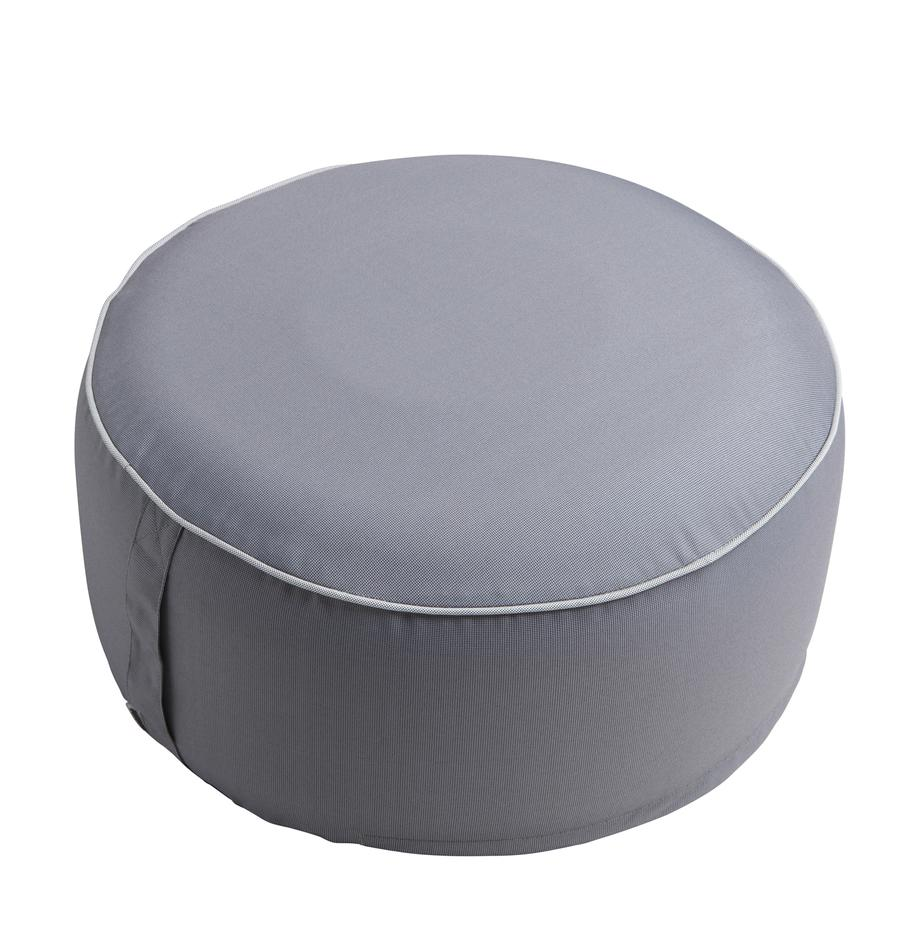 Aufblasbarer Pouf Maxime, Bezug: Polyester, UV-beständig, Dunkelgrau, Weiss, Ø 55 x H 25 cm