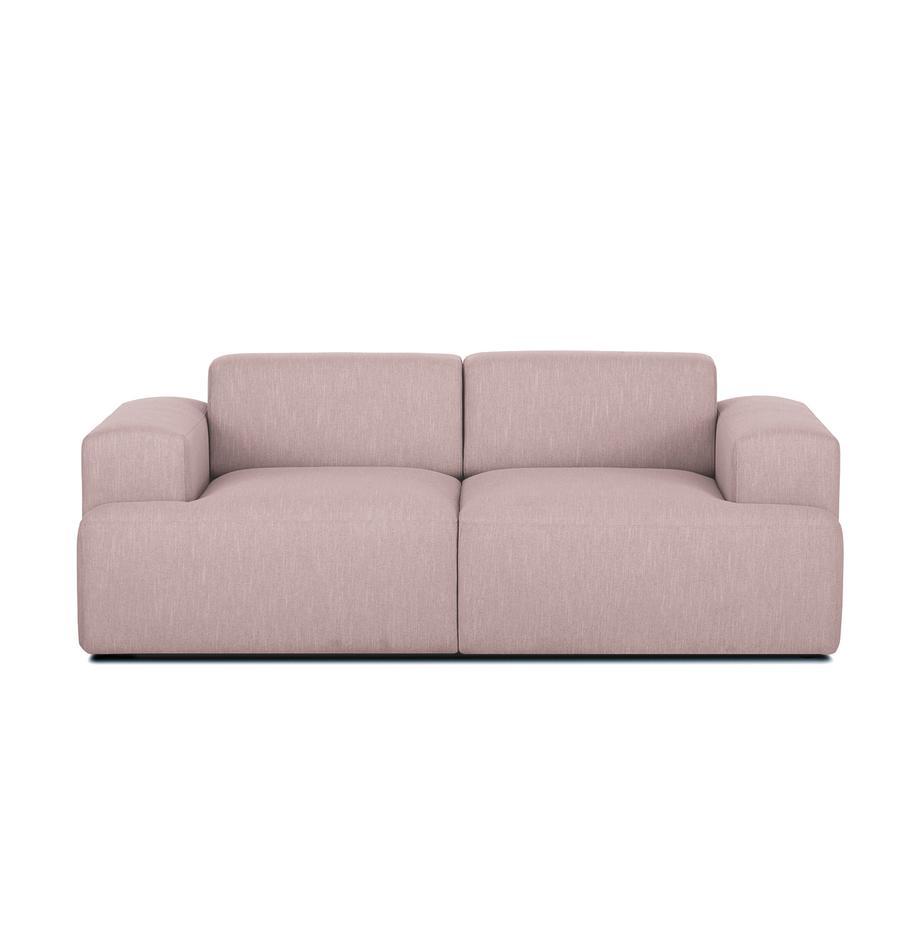 Sofa Melva (2-Sitzer), Bezug: Polyester Der hochwertige, Gestell: Massives Kiefernholz, Spa, Füße: Kiefernholz, Webstoff Rosa, B 200 x T 101 cm