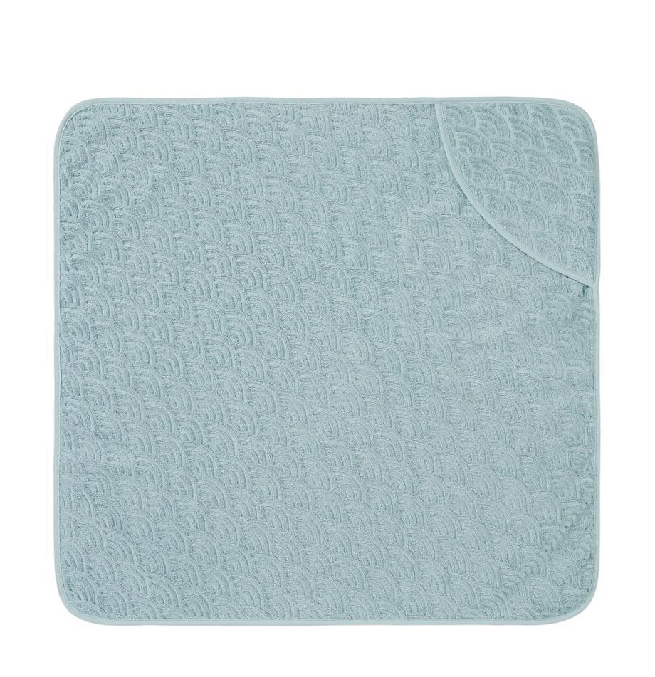Baby-Badetuch Wave aus Bio-Baumwolle, 100% Biobaumwolle, GOTS-zertifiziert, Blau, 80 x 80 cm