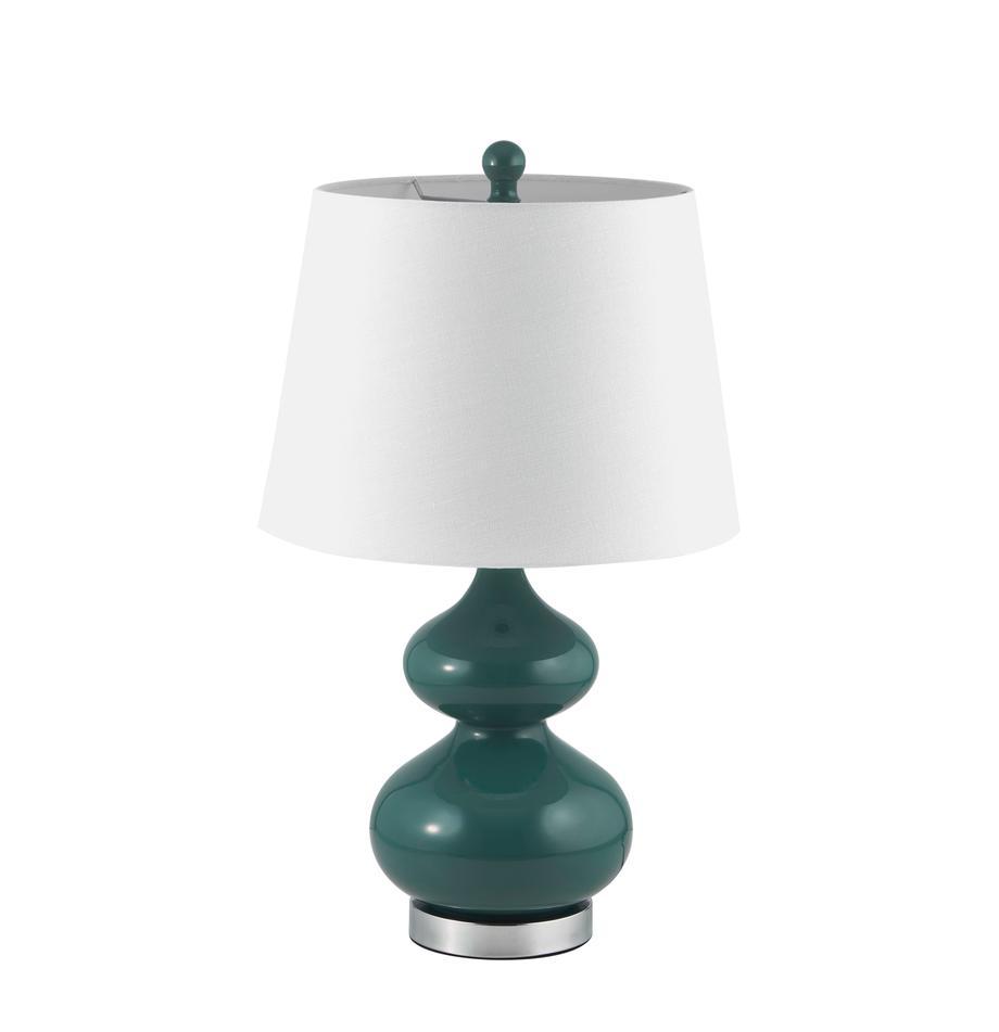 Duża lampa stołowa Felicitas, 2 szt., Zielony, Ø 35 x W 58 cm