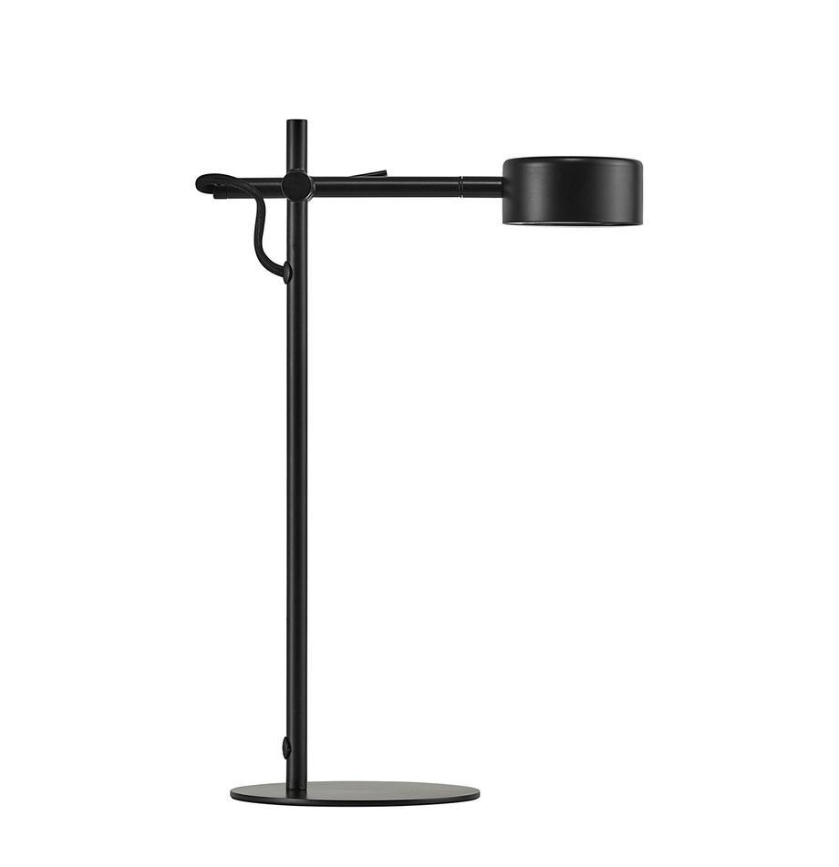 Dimbare LED bureaulamp Clyde, Lamp: gecoat metaal, Zwart, 15 x 41 cm