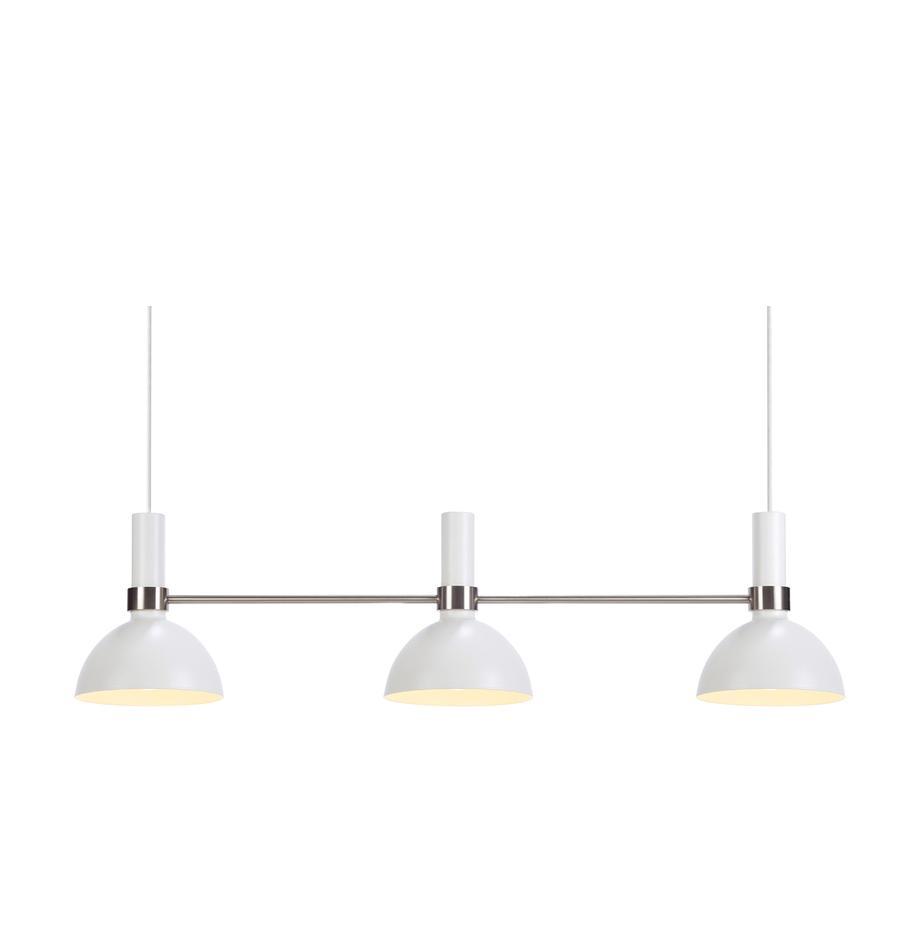 Lampa wisząca Larry, Biały, chrom, S 100 x W 24 cm